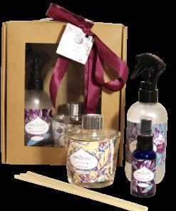 מארז מתנה מבשם חדרים 250 מל מפיץ ריח מקלות 230 מל מיני מבשם 30חדרים או כביסה בחוץ